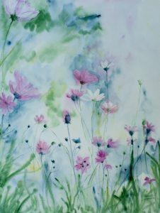 malování akvarelem