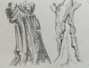 Kresba detailů stromů